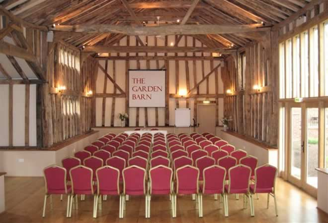 Conferences held at The Garden Barn can accommodate great flexibility